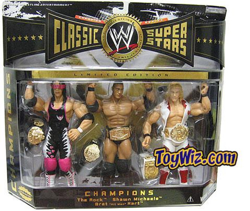 WWE Wrestling Classic Superstars Series 2 Champions Exclusive Action Figure 3-Pack