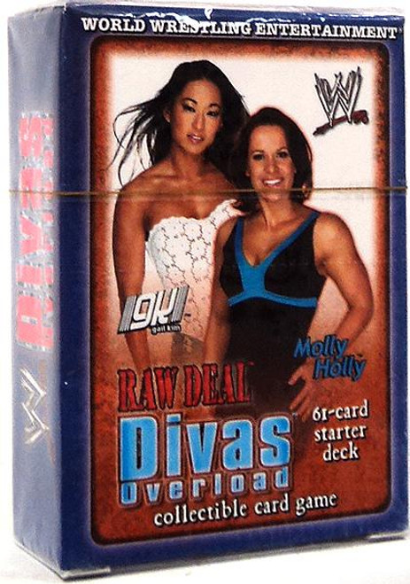 WWE Wrestling Raw Deal Trading Card Game Divas Overloaded Gail Kim and Molly Holly Starter Deck
