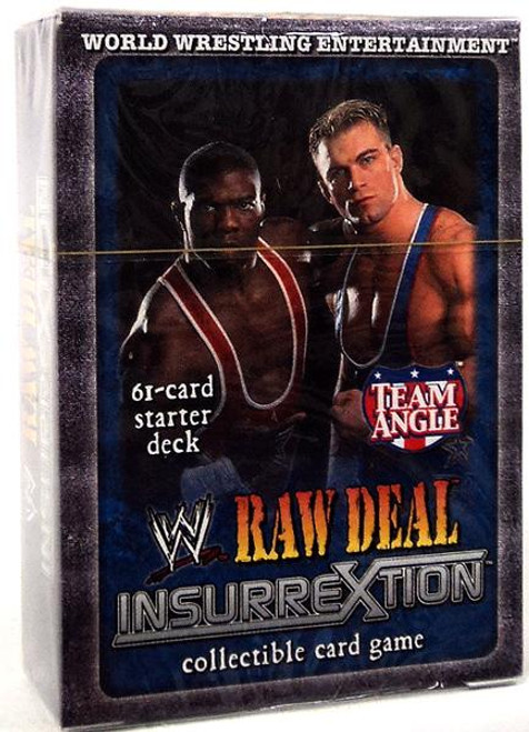 WWE Wrestling Raw Deal Trading Card Game InsurreXtion Team Angle Starter Deck