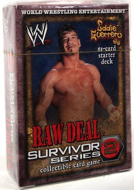 WWE Wrestling Raw Deal Trading Card Game Survivor Series 2 Eddie Guerrero Starter Deck