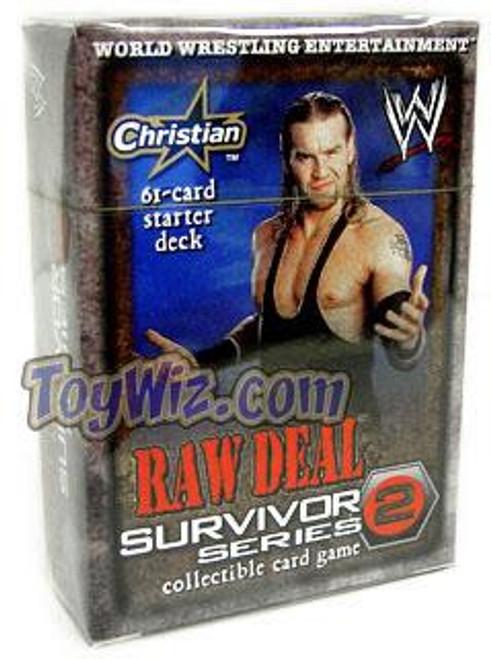 WWE Wrestling Raw Deal Trading Card Game Survivor Series 2 Christian Starter Deck