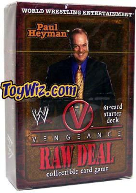WWE Wrestling Raw Deal Trading Card Game Vengeance Paul Heyman Starter Deck