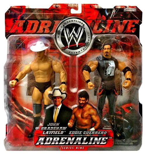 WWE Wrestling Adrenaline Series 9 John Bradshaw Layfield & Eddie Guerrero Action Figure 2-Pack