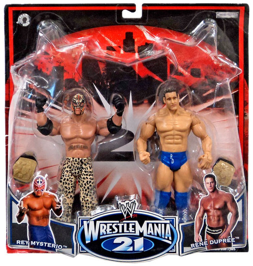 WWE Wrestling WrestleMania 21 Series 2 Rey Mysterio & Rene Dupree Exclusive Action Figure 2-Pack