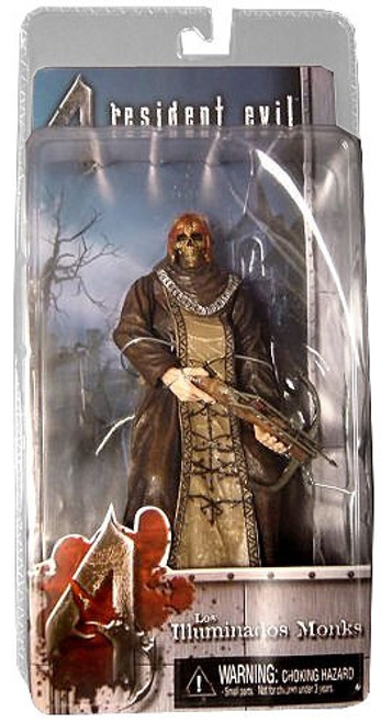 NECA Resident Evil 4 Series 2 Black Zealot with Skull & Crossbow Action Figure