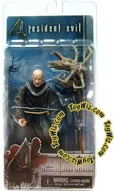 NECA Resident Evil 4 Series 2 Black Bald Zealot with Scythe Action Figure