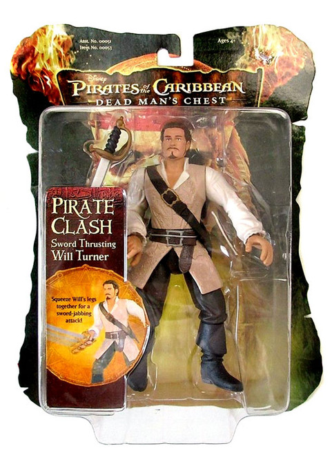 Pirates of the Caribbean Dead Man's Chest Pirate Clash Will Turner Action Figure [Sword Thrusting]