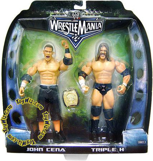WWE Wrestling Road to WrestleMania 22 Series 3 John Cena & Triple H Exclusive Action Figure 2-Pack [Damaged Package]
