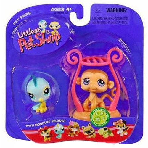Littlest Pet Shop Pet Pairs Monkey & Bird Figure 2-Pack