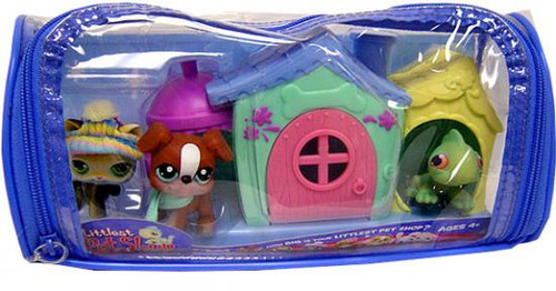 Littlest Pet Shop Winter Vinyl Duffle Bag Figure 3-Pack