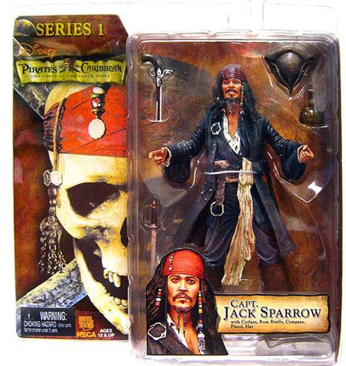 NECA Pirates of the Caribbean Curse of the Black Pearl Series 1 Captain Jack Sparrow Action Figure [Grinning Face]