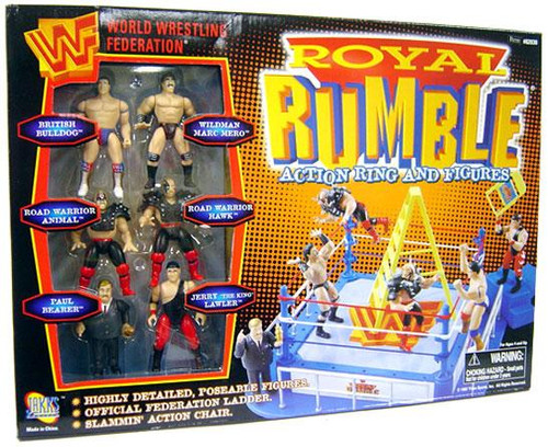 WWE Wrestling WWF Playsets Royal Rumble Action Ring and Figures Action Figure Playset