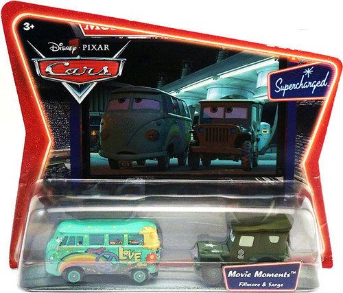 Disney Cars Supercharged Movie Moments Fillmore & Sarge Diecast Car 2-Pack