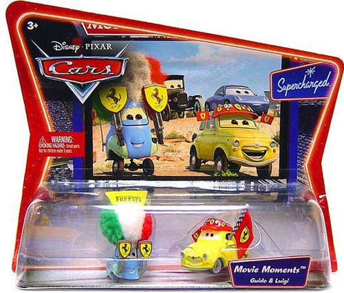 Disney Cars Supercharged Movie Moments Luigi & Guido in Ferrari Gear Diecast Car 2-Pack