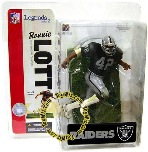McFarlane Toys NFL Oakland Raiders Sports Picks Legends Series 2 Ronnie Lott Action Figure [Raiders Variant]