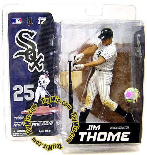 McFarlane Toys MLB Chicago White Sox Sports Picks Series 17 Exclusive Jim Thome Exclusive Action Figure [White Jersey]