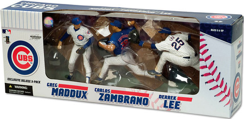 McFarlane Toys MLB Chicago Cubs Sports Picks Exclusive 3-Pack Greg Maddux, Carlos Zambrano & Derrek Lee Exclusive Action Figure 3-Pack