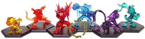 Digimon Set of 6 Japanese Fighting PVC Figures [Powered Up Version]