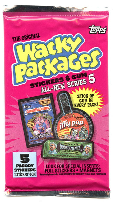 Wacky Packages All-New Series 5 Trading Card Pack