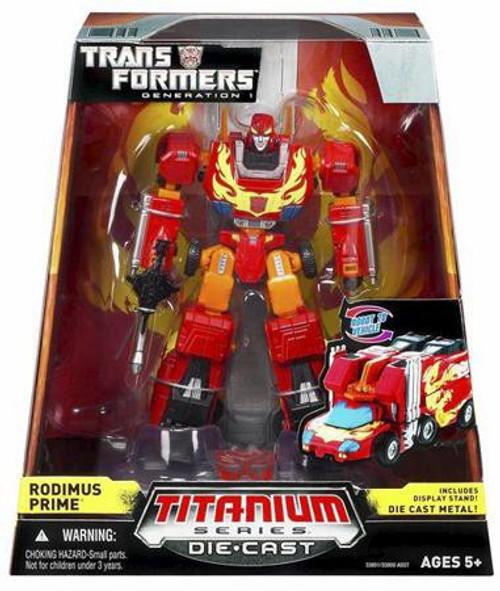 """Transformers Generation 1 TItanium Series Rodimus Prime 6-Inch 6"""" Diecast Figure"""