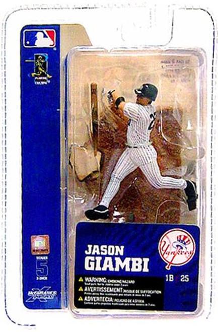 McFarlane Toys MLB New York Yankees Sports Picks 3 Inch Mini Series 5 Jason Giambi Mini Figure