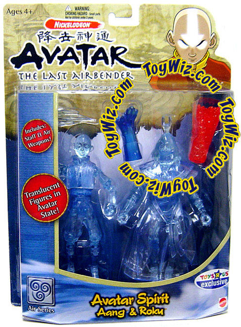 Avatar the Last Airbender Avatar Spirit Aang & Roku Exclusive Action Figure 2-Pack