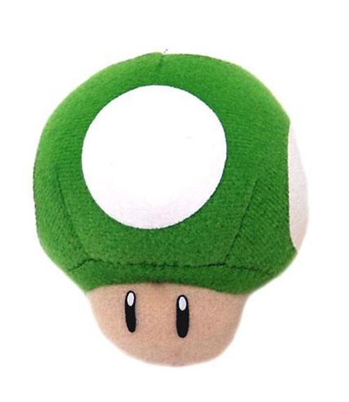 New Super Mario Bros Wii 1-Up Mushroom 3-Inch Plush Keychain