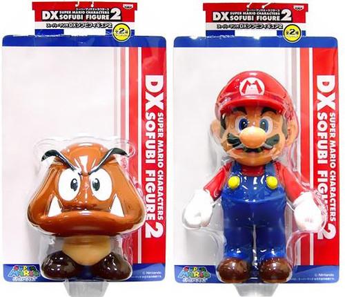 Super Mario DX Sofubi Series 2 Goomba & Mario Set of 2 Vinyl Figures