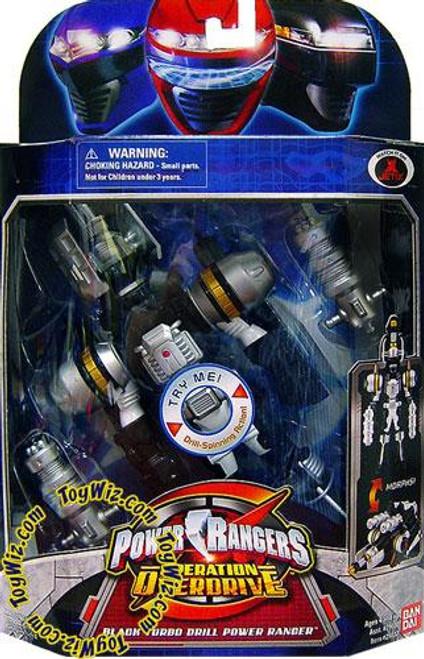 Power Rangers Operation Overdrive Black Turbo Drill Power Ranger Action Figure
