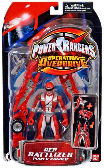 Power Rangers Operation Overdrive Red Battlized Power Ranger Action Figure
