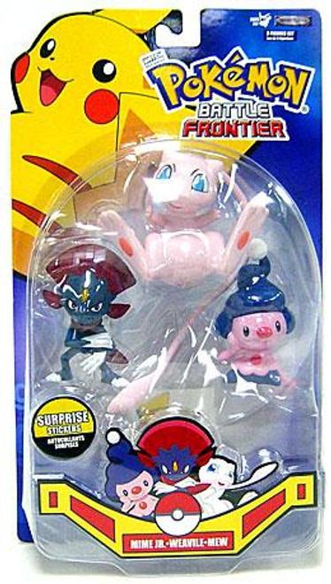 Pokemon Battle Frontier Series 2 Weavile, Mew & Mime Jr. Figure 3-Pack