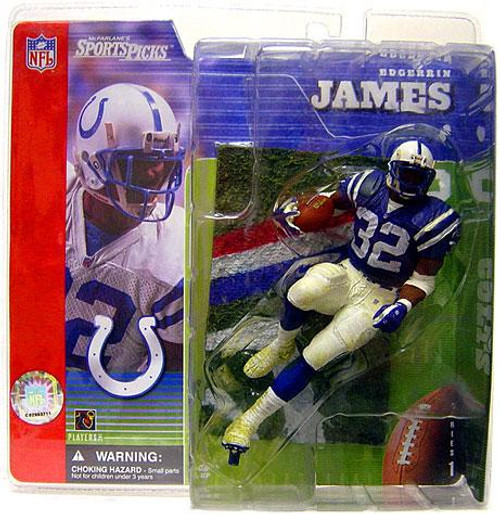 McFarlane Toys NFL Indianapolis Colts Sports Picks Series 1 Edgerrin James Action Figure [Blue Jersey Variant]