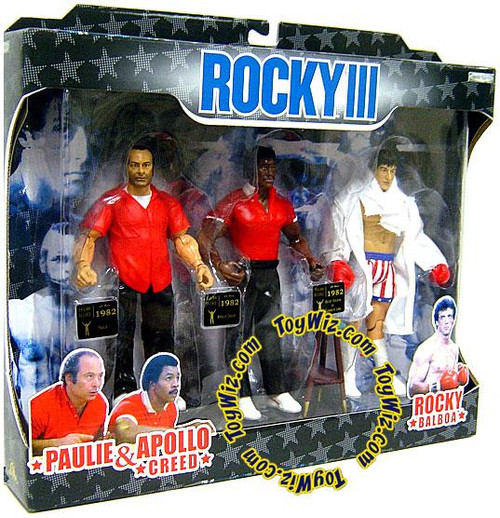 Rocky III Rocky's Corner Clubber Lang Fight Exclusive Action Figure 3-Pack