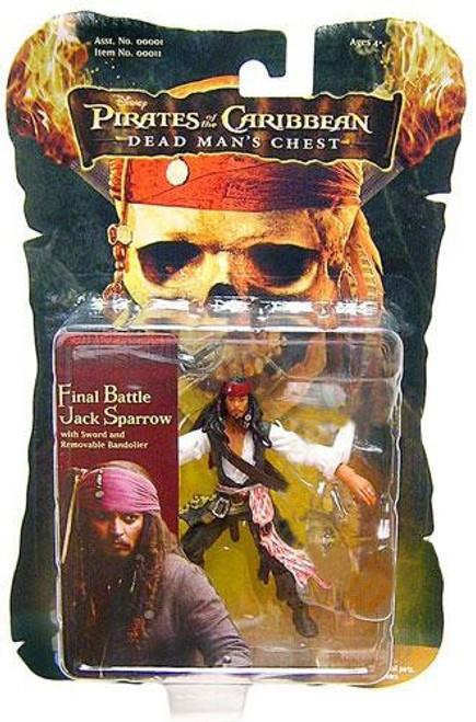 Pirates of the Caribbean Dead Man's Chest Captain Jack Sparrow Action Figure [Final Battle]