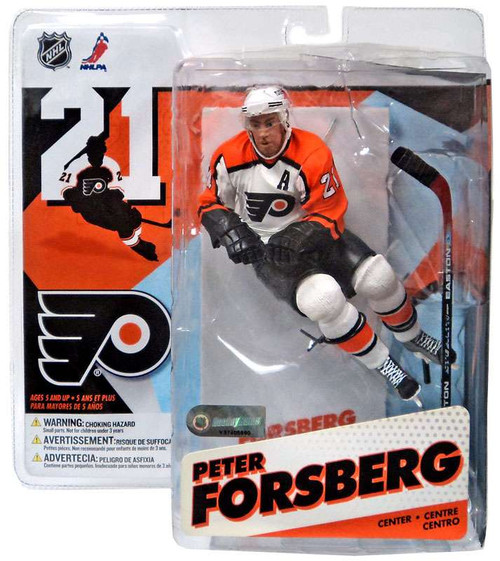 McFarlane Toys NHL Philadelphia Flyers Sports Picks Series 12 Peter Forsberg Action Figure [White Jersey Variant]