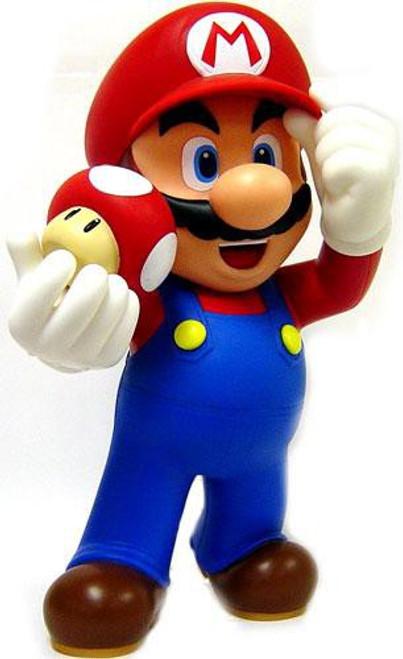 New Super Mario Bros Wii Desktop Sofbi Mario 12-Inch Vinyl Figure