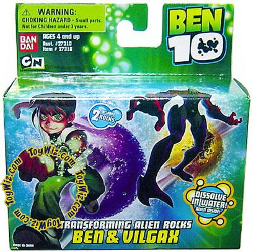 Ben 10 Transforming Alien Rocks Ben & Vilgax 1-Inch Mini Figure Set
