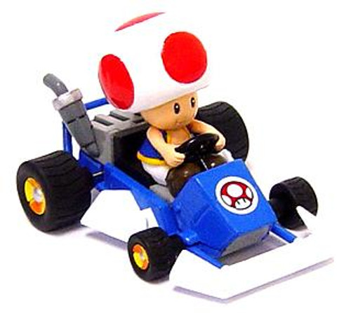 Super Mario Mario Kart Toad 4-Inch Mini Figure [Go-Kart]