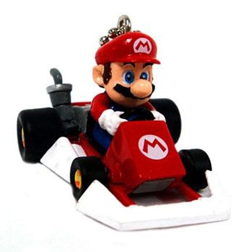 Super Mario Mario Kart DS Mario Micro Keychain [Go-Kart]