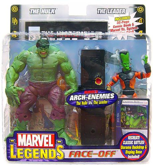 Marvel Legends Face Off Series 1 Hulk Yelling vs. Leader Action Figure 2-Pack [Thin Head Variant]