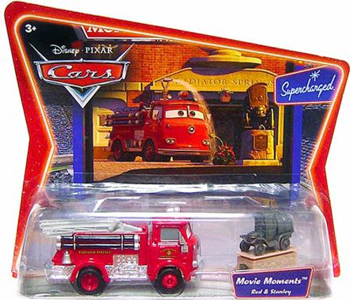 Disney Cars Supercharged Movie Moments Red the Firetruck & Stanley Diecast Car 2-Pack