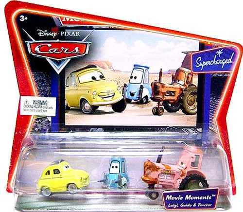 Disney Cars Supercharged Movie Moments Luigi, Guido & Tractor Diecast Car 3-Pack