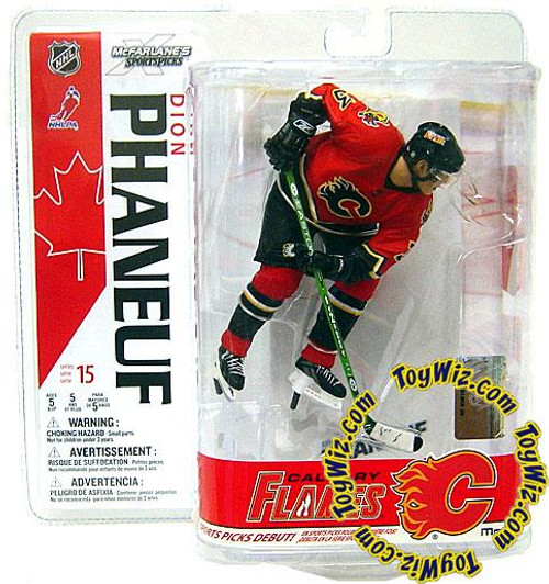 McFarlane Toys NHL Calgary Flames Sports Picks Series 15 Dion Phaneuf Action Figure [Red Jersey]