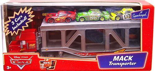 Disney Cars Supercharged Mack Transporter Diecast Car Playset