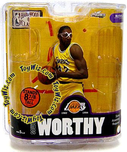 McFarlane Toys NBA Los Angeles Lakers Sports Picks Legends Series 3 James Worthy Action Figure [Yellow Jersey]