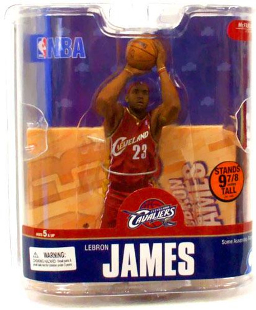 McFarlane Toys NBA Cleveland Cavaliers Sports Picks Series 13 LeBron James Action Figure [Red Jersey]