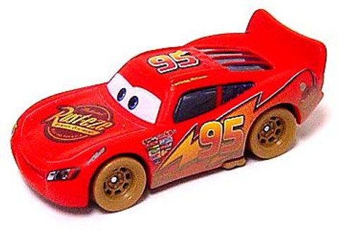 Disney Cars Loose Muddy Dirt Track Lightning McQueen Diecast Car [Loose]