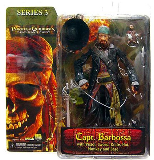 NECA Pirates of the Caribbean Dead Man's Chest Series 3 Captain Hector Barbossa Action Figure