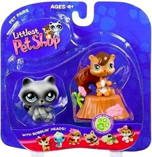 Littlest Pet Shop Pet Pairs Chipmunk & Raccoon Figure 2-Pack