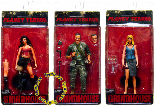 NECA Grindhouse Planet Terror Set of 3 Action Figures